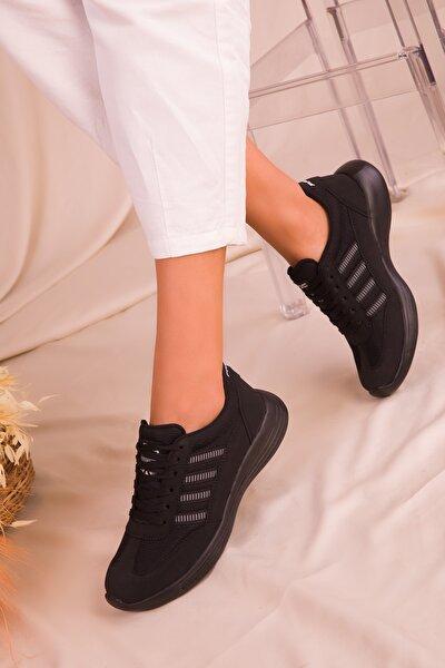 Siyah-Siyah Kadın Sneaker 14552