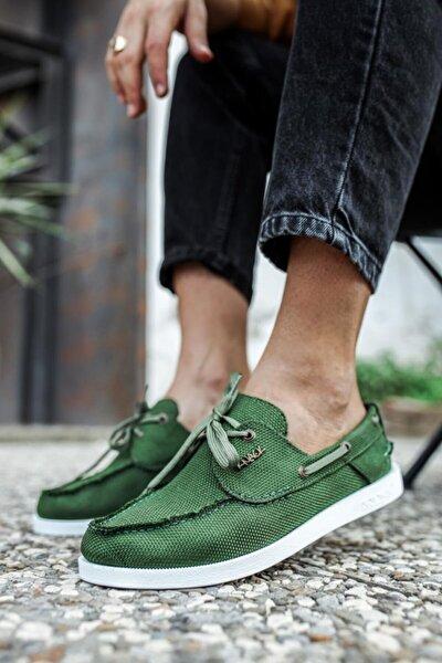 Mevsimlik Keten Ayakkabı 008 Yeşil