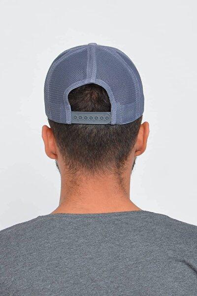 Erkek Gri New York Ny Nakışlı Şapka