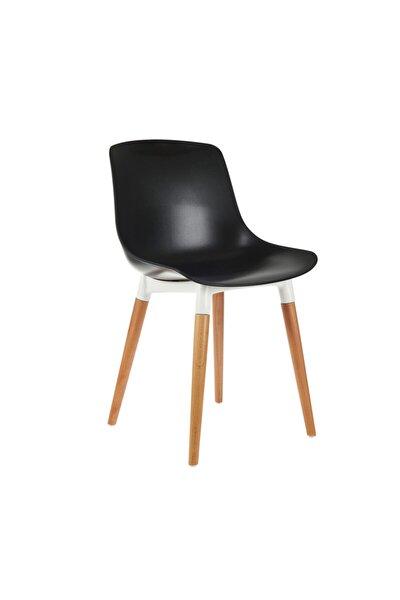 Shell Eames Düz Sandalye - Siyah