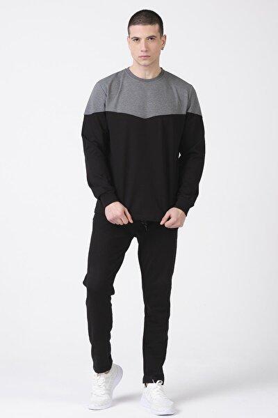Erkek Pamuk Mevsimlik Pijama Takımı Siyah
