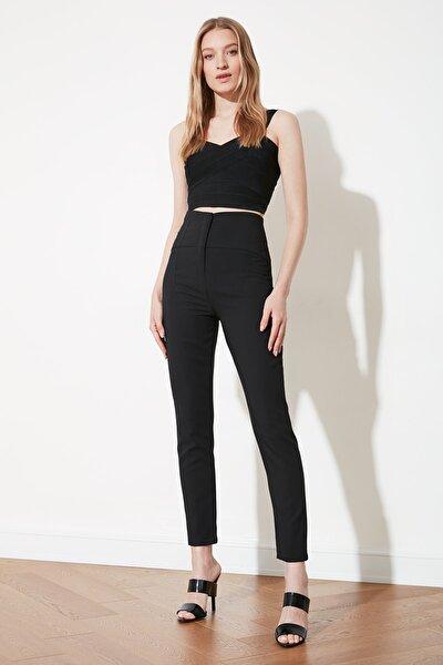 Siyah Beli Kuplu Cigarette Pantolon TWOSS20PL0388