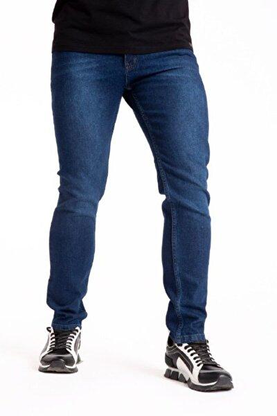Erkek Lacivert Slim Fit Likralı Pantolon