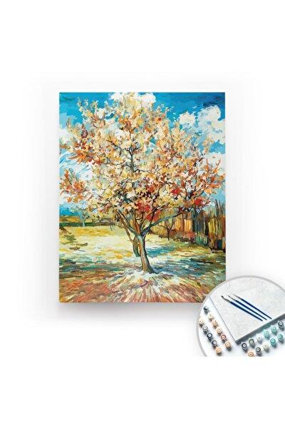 Van Gogh, The Peach Tree - Tuval Üzerine Sayılarla Boyama Kasnaklı 40x50cm