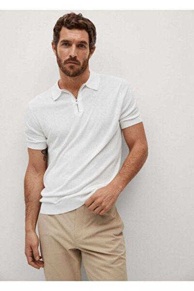 Erkek Fermuarlı Dökümlü T-Shirt