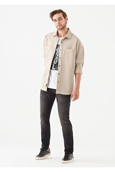 Erkek Jake Comfort Koyu Gri Jean Pantolon 0042218775