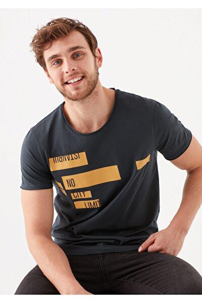 Baskılı Antrasit Istanbul Tişört