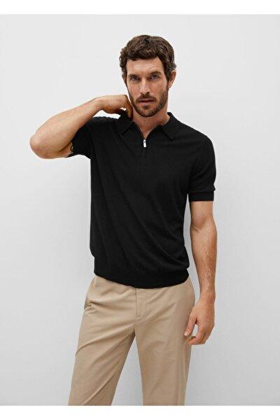 Fermuarlı Dökümlü Polo Gömlek