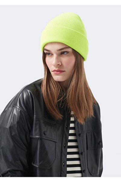 Kadın Neon Yeşil Bere