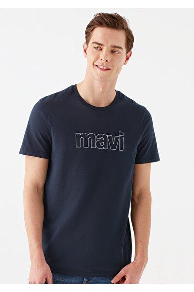 Logo Baskılı Lacivert Tişört