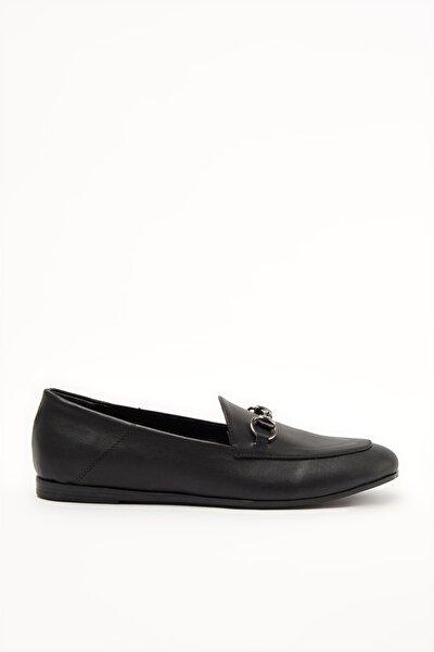 Siyah Kadın Loafer Ayakkabı 02AYY207770A370