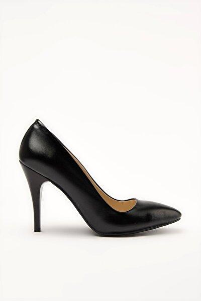Siyah Kadın Klasik Topuklu Ayakkabı 01SAY209300A370