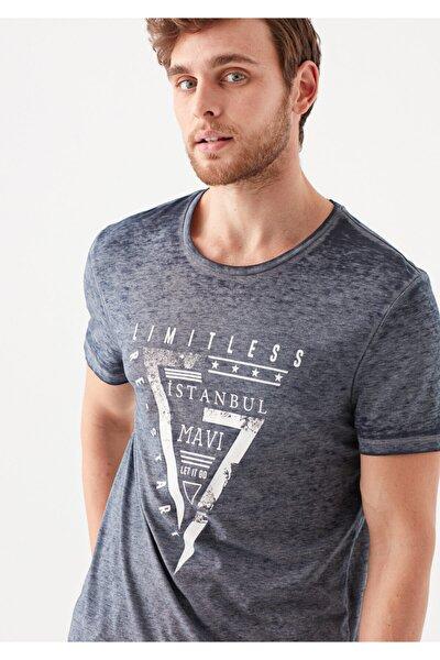 Limitless  İstanbul Baskılı Lacivert Tişört