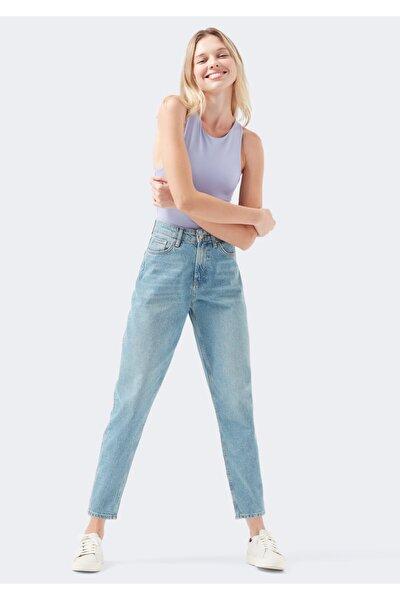 Layla All Blue Eskitilmiş Açık Jean Pantolon
