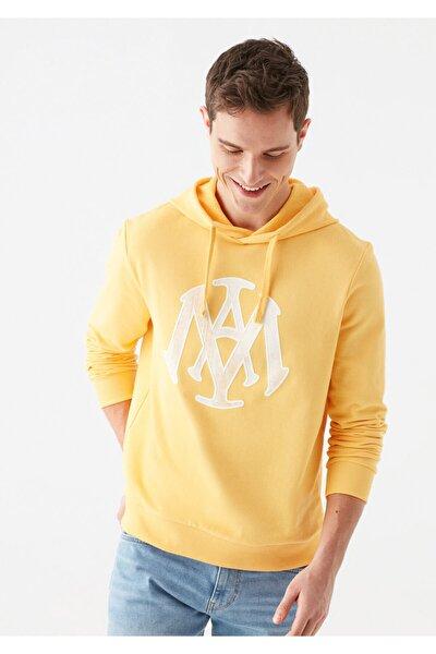 Mühür Logo Baskılı Sarı Sweatshirt