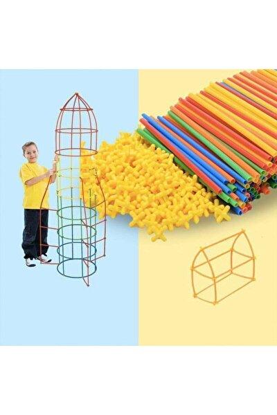 Bambu Çubukları Zeka Hayal Ve Gücü Eğitici 4d Dıy Block 300 Parça
