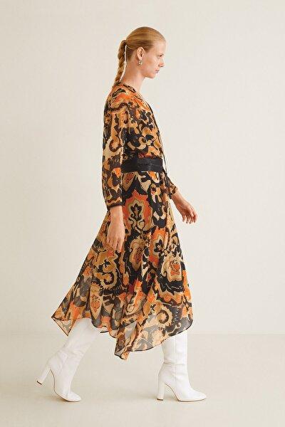 Kadın Kahverengi Elbise 33077682