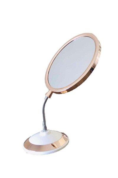 Çift Taraflı Büyüteçli 360 Derece Eğilebilir Oval Makyaj Aynası