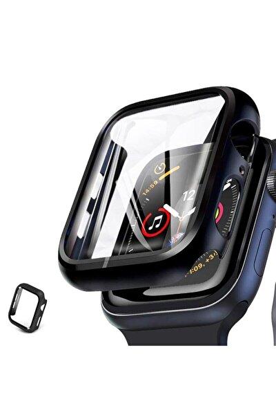 Apple Watch 44 Mm 360 Derece Koruyucu Kılıf + Temperli Cam Ekran Koruyucu