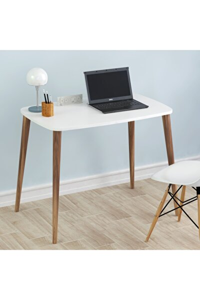 60x90 Cm Çalışma Masası Bilgisayar Masası Ofis Ders Yemek Masası Beyaz