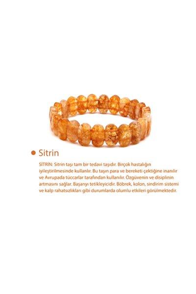 Sitrin Doğal Taş Rolex Bileklik