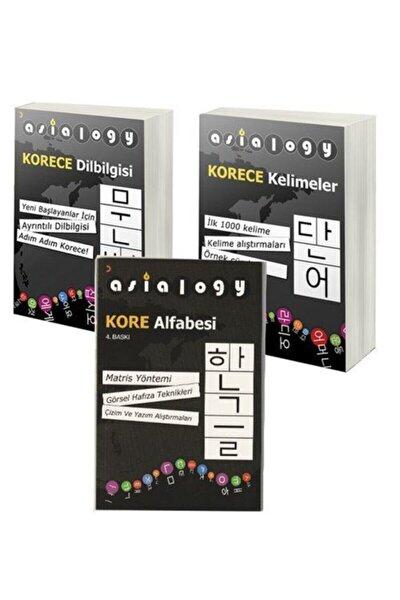 Asialogy Korece Kelimeler, Alfabe Ve Dil Bilgisi 3 Kitap Set & Korece Öğreten Kitaplar