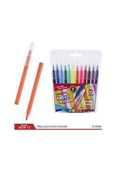 Red Apple 12 Renk Jumbo Fırça Uçlu Keçeli Kalem