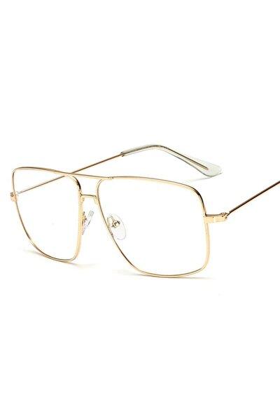 Erkek Gözlük Modelleri Metal Çerçeve Damla Pilot Çerçeve Imaj Gözlüğü Retro Vintage Moda Sarı