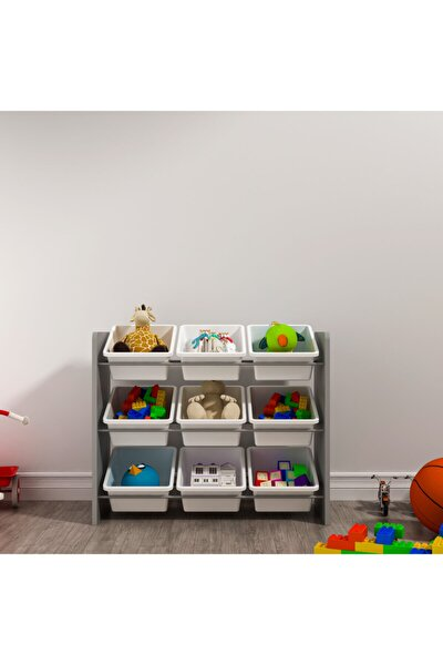 9 Sepetli Montessori Oyuncak Dolabı
