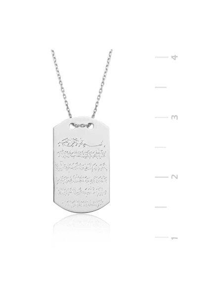 Kadın Gümüş Ayetel Kürsi Kolye 785