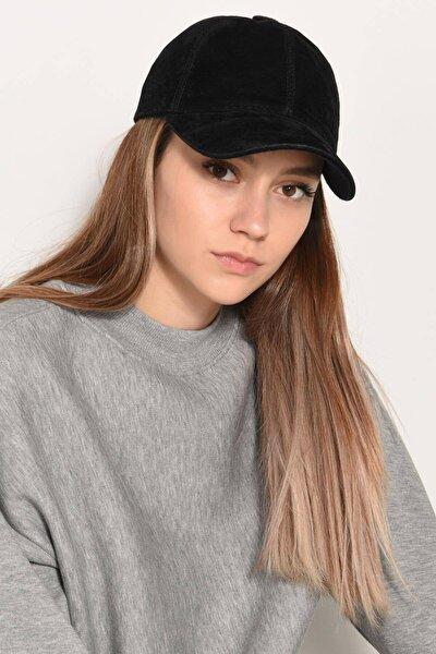 Kadın Siyah Süet Şapka Şpk1037 - E3 ADX-0000022993