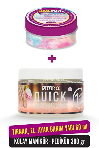 Quick Manikür 300gr + Nailmed+ Biotin 60ml Tırnak El Ayak Bakım Seti