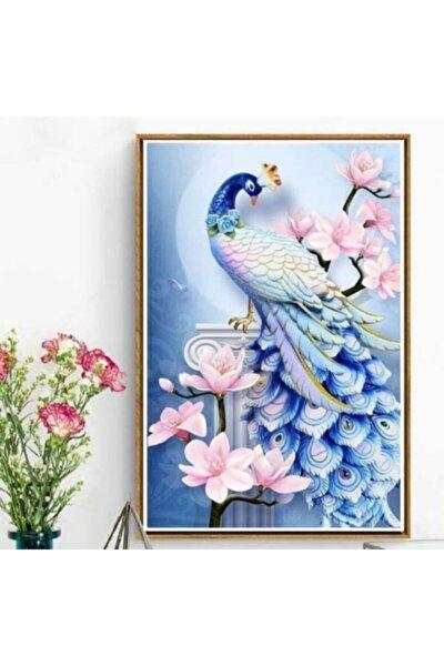 5d Elmas Boyama Tavus Kuşu Diamond Painting Kit Mozaik Tuval Hobi Seti