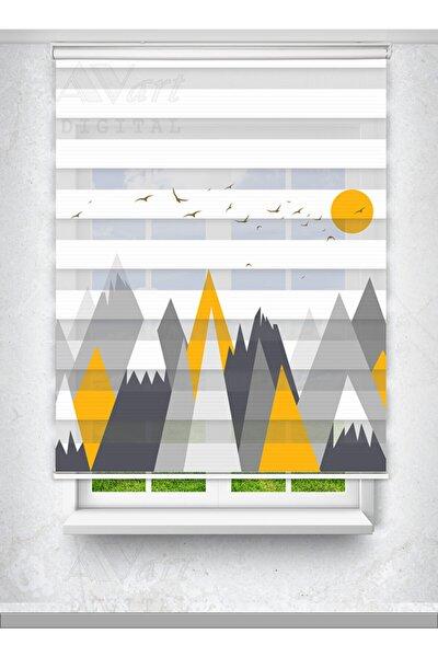 Dağ Tepe Baskılı Çocuk Odası Perdesi - Baskılı Zebra Perde