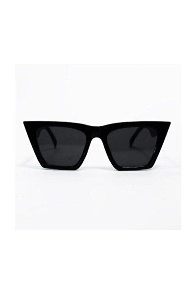 Kadın Siyah Köşeli Gözlük