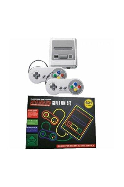 TV Oyun Konsolu NES 9Bit Klasik 621 Yüklü Oyunlar hdmı+2 Pads XMAS HEDİYE