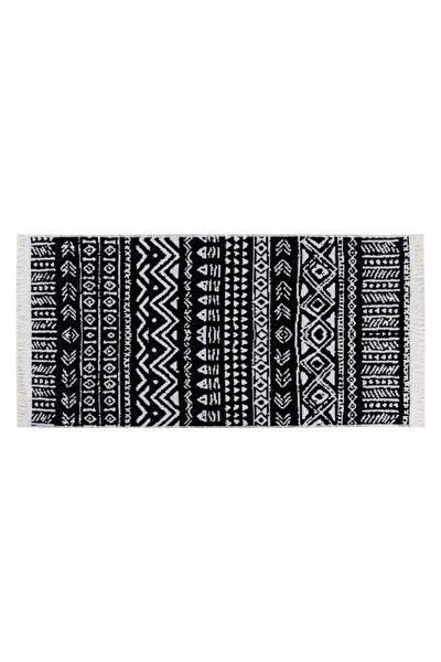Siyah Beyaz Larıssa Kilim 80x150 cm