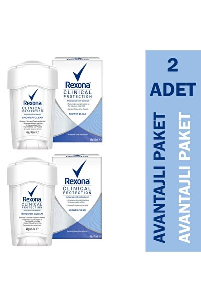 Clinical Protection Shower Clean Kadın Deodorant 2'li Paket Fırsat