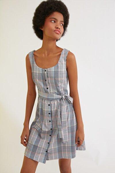 Çok Renkli Kuşaklı Elbise TWOSS21EL1266