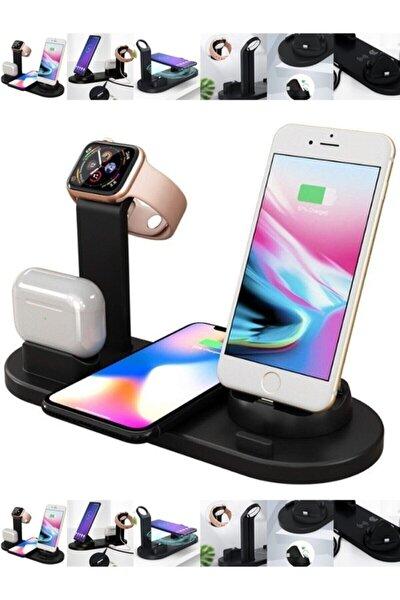 4in1 Wireless Kablosuz Şarj Iphone+usb C+micro Usb Şarj Standı - Watch-pods-phone