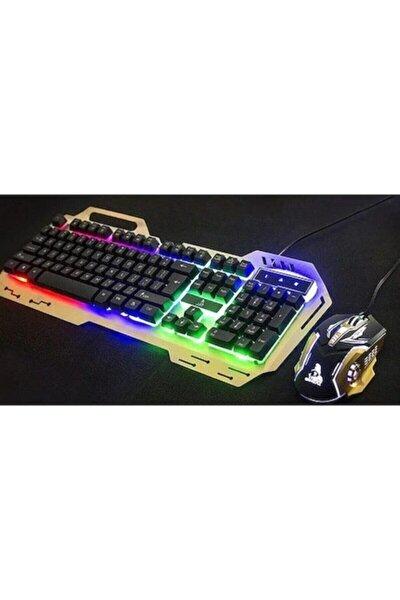Polygold Pg-8014 Işıklı Oyuncu Klavye Mouse Seti - Gold