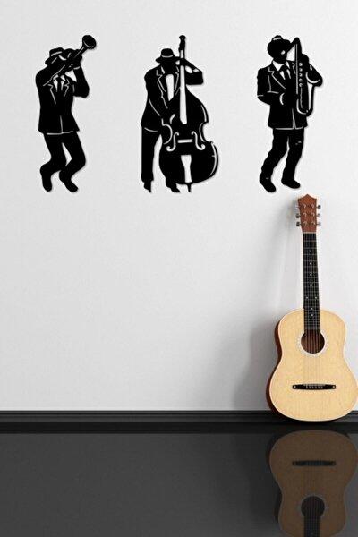 Müzisyenler Duvar Dekoru, Duvar Süsü, Ahşap Dekoratif Tablo, Lazer Kesim
