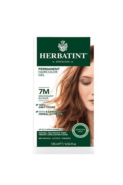 Kalıcı Bitkisel Saç Bakım Boyası - 7m Mahogany Blonde Akaju Sarı 150 ml 8016744500180