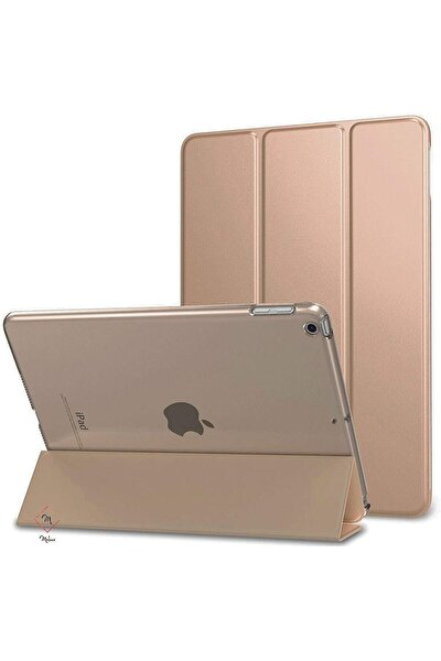 "Apple Ipad 8.nesil 10.2"" Kılıf Pu Deri Smart Case A2270 A2428 A2429 A2430 Gold"