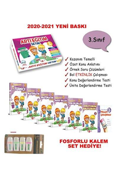Artı Eğitim 3. Sınıf Okulda Evde Eğitim Seti (2020-2021) Fosforlu Kalem Set Hadiye