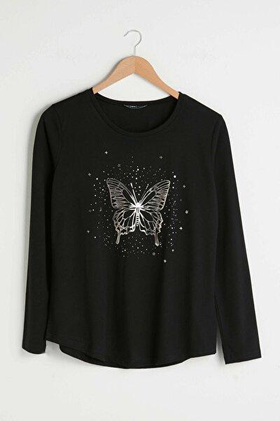 Kadın Yeni Siyah Classic Tişört