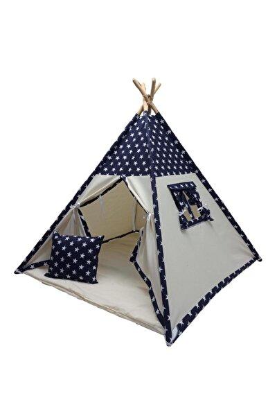 Oyun Çadırı Devrileyen Toplanmayan Çocuk Oyun Çadırı Kızıldereli Çadırı Oyun Evi Lacivert Yıldızlı