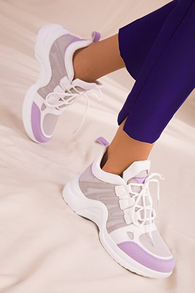 Kadın Lila Beyaz Buz Sneaker