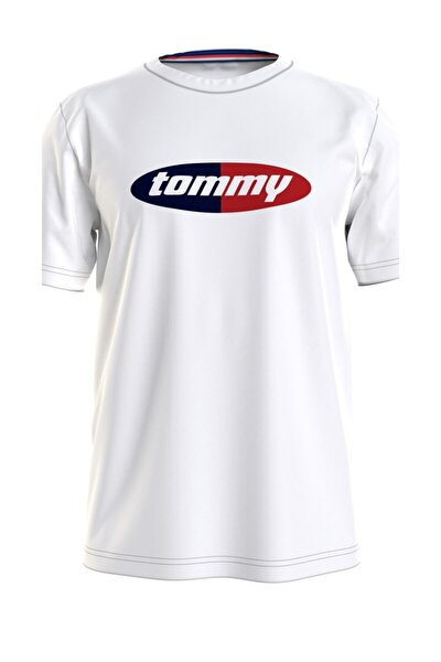 Erkek Beyaz T-Shirt Crew Neck Tee UM0UM02112