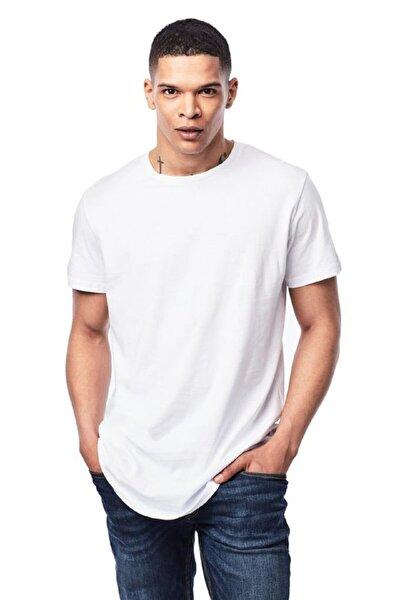 Jack Jones Erkek Düz Beyaz Renk Tişört 12113648